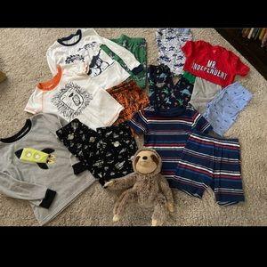 13 piece bundle Boys' Pajamas 5-6 Carters Gymboree